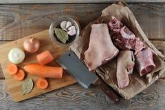 Kit pour la préparation de la gelée - jambes de porc, jambes de porc, carro Image stock