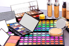 Kit professionnel de maquillage Photos libres de droits