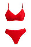 Kit red panties and bra Stock Images