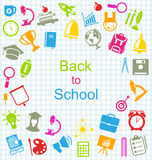 Kit of School Colorful Simple Objects Royalty Free Stock Photography