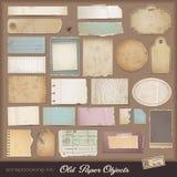 Kit scrapbooking de Digitaces: papel viejo Foto de archivo
