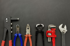 Kit of tools Royalty Free Stock Image