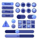 Kit universel d'UI pour concevoir des applications sensibles de jeu et des jeux sur Internet mobiles, des sites Web, des apps mob illustration de vecteur