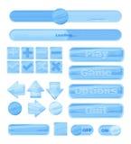 Kit universel de la glace UI d'hiver pour concevoir des applications sensibles de jeu et des jeux sur Internet mobiles, des sites illustration libre de droits