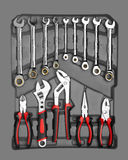 Kit of Various Tools Stock Photos