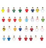 Kit. Vector illustration of Brazil 2014 Cup Jerseys Football Kits Stock Images