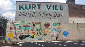Kurt Vile mural Royalty Free Stock Photos