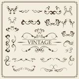 Kit of Vintage Elements for Invitations, Banners, Posters, Placards, Badges or Logotypes. vector illustration