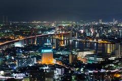 Kitakyushu City in japan at night Stock Image