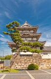 Kitanomaru Tsukimi torn (1676) av den Takamatsu slotten, Japan Royaltyfria Bilder
