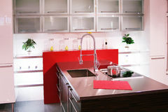 Kitchen. Detail in a modern and new kitchen Stock Photos