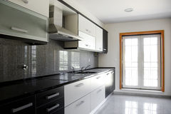 Kitchen. Interior of modern kitchen in a new apartment Stock Images