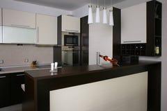 Kitchen. Modern design bar kitchen interior Royalty Free Stock Photos