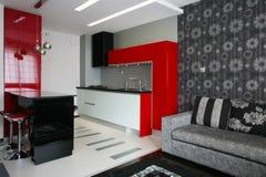 Kitchen. Modern design bar kitchen interior stock photo