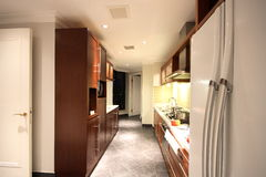 Kitchen. A kitchen in an apartment Royalty Free Stock Photo