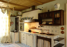Kitchen. Beautiful kitchen in rural style Royalty Free Stock Images