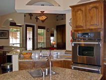 Kitchen. Clean and sparkling and just newly remodeled for the family to use Stock Photo