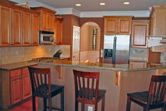 Kitchen. New Contstructed spacious kitchen for the new home Royalty Free Stock Image