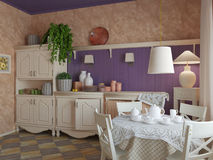 Kitchen. The interior of rural kitchen. Provence style Royalty Free Stock Photography
