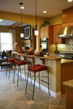 Kitchen. A beautiful kitchen interior in an upscale home Royalty Free Stock Photo