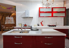 The kitchen 16. The modern family pay attention to design and decoration of the kitchen Royalty Free Stock Images