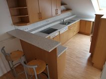 Kitchen. New kitchen in a penthouse Stock Photography