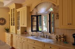 Kitchen. This is a picture of a charming and luminous kitchen Royalty Free Stock Photos