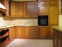 Kitchen 17. Wood kitchen 17 Royalty Free Stock Image