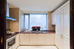 Kitchen. Room with white style Royalty Free Stock Images