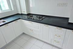 Kitchen. Interior design of clean modern white kitchen Royalty Free Stock Photo