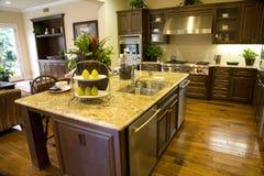 Kitchen 2382. Spacious kitchen with an island Stock Image