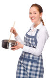 In the kitchen royalty free stock photo
