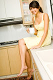 In Kitchen Royalty Free Stock Photo