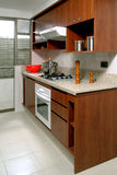 Kitchen. A nice and modern fitted kitchen Royalty Free Stock Photography
