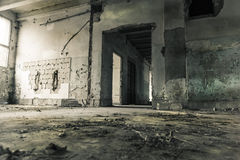 Kitchen. Interior of an old abandoned mine supply building. The kitchen Royalty Free Stock Photo