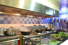 The kitchen. The photograph of restaurant kitchen royalty free stock image