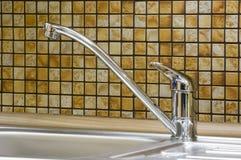 Kitchen. Detail of modern kitchen sink Royalty Free Stock Images