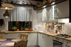 Kitchen. Old kitchen in new edition Stock Photography