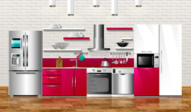 Kitchen1 illustrazione di stock