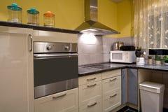 Kitchen. Modern luxury kitchen household appliances Royalty Free Stock Image