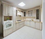 Kitchen. The new kitchen room, modern design Stock Image