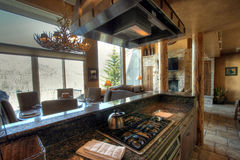 Kitchen. The kitchen counter and stove in a nice home Stock Photo