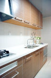 Kitchen. Modern kitchen , flowers and so on Stock Photography