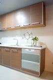 Kitchen. Modern kitchen , flowers and so on Royalty Free Stock Photography