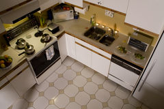 Kitchen from above. A contemporary kitchen seen from above Royalty Free Stock Photography