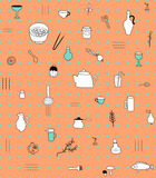 Kitchen accesories pattern Stock Photography