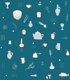 Kitchen accesories pattern Royalty Free Stock Photo