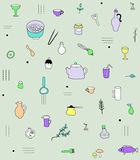 Kitchen accesories pattern Royalty Free Stock Image