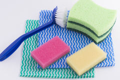 Kitchen accesorios. Accessories for washing dishes Royalty Free Stock Photography