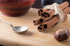 Kitchen accessory and spices close-ups Stock Image
